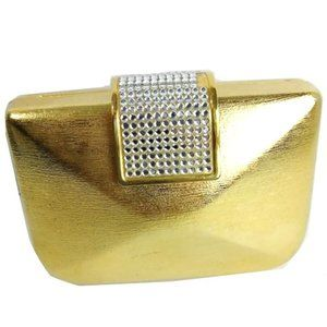 La Regale Gold Metal Clutch